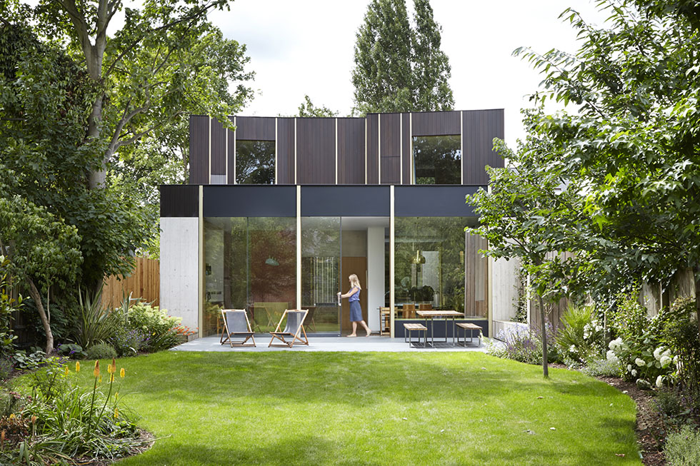 garden and glazed and clad self build