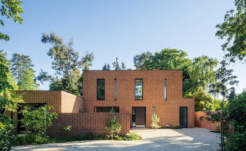 modern brick house designs