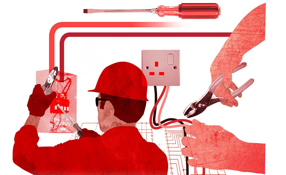 electrician graphic illustration