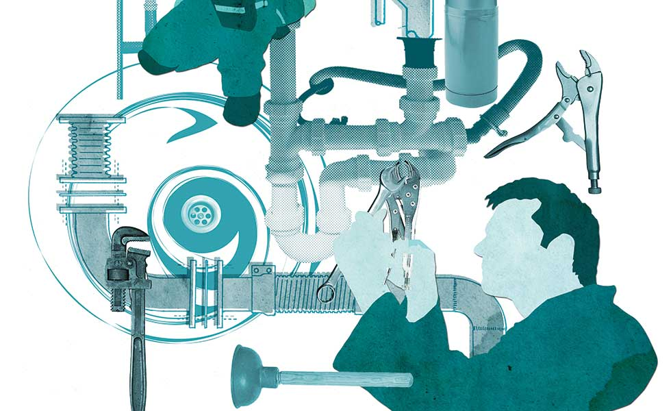 plumbing graphic illustration