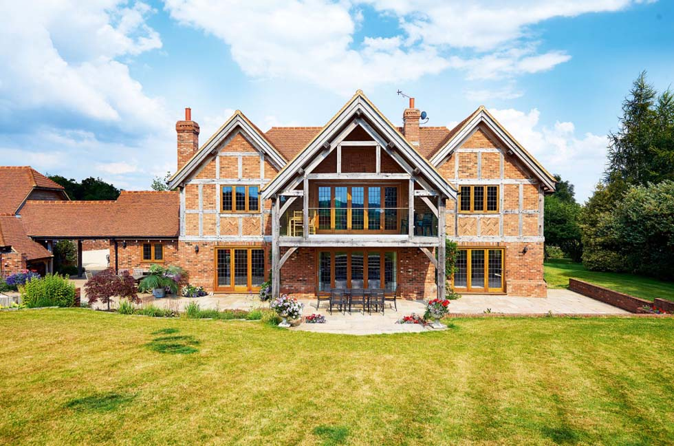 brick and oak traditional style self build