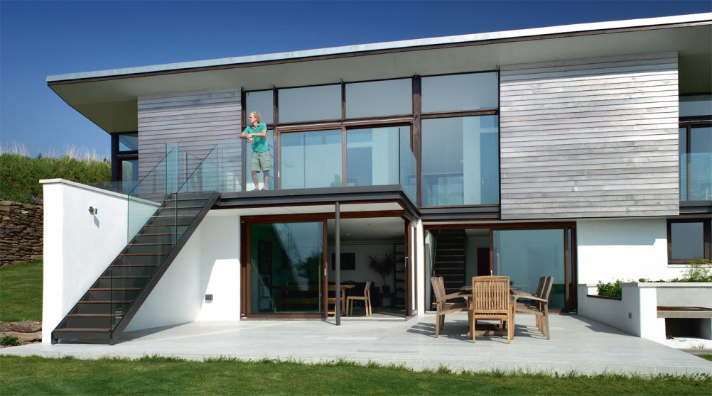 Self build contemporary house on the coast