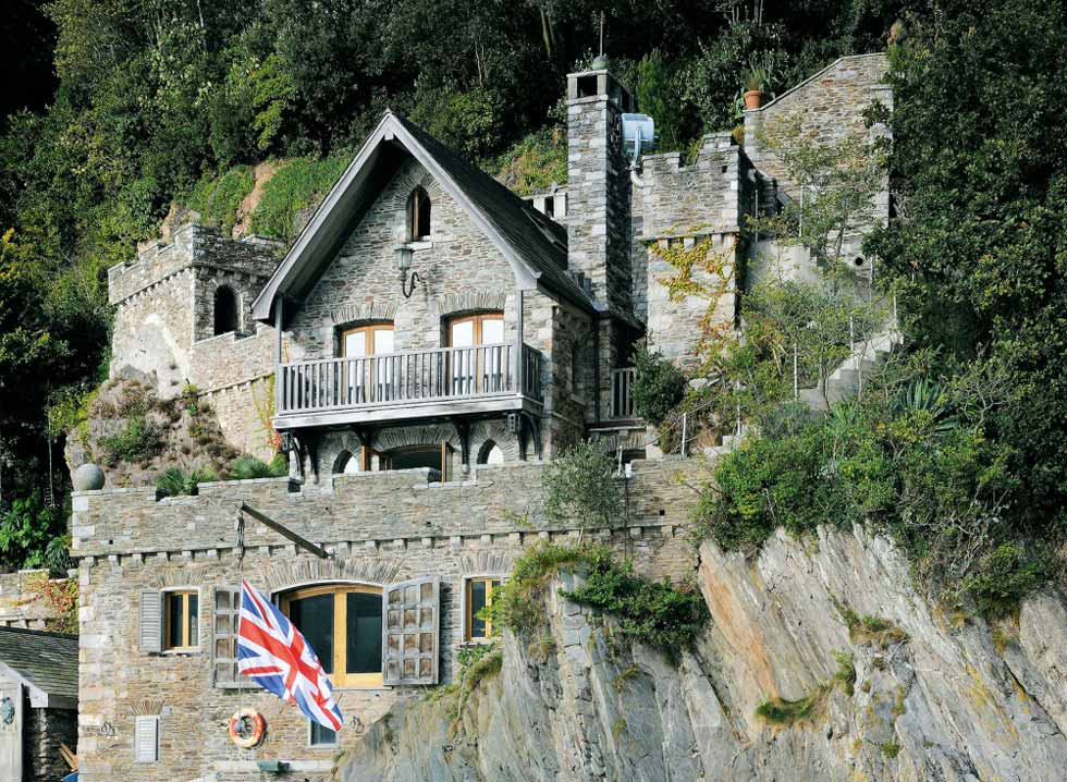 cliff face boat house self build