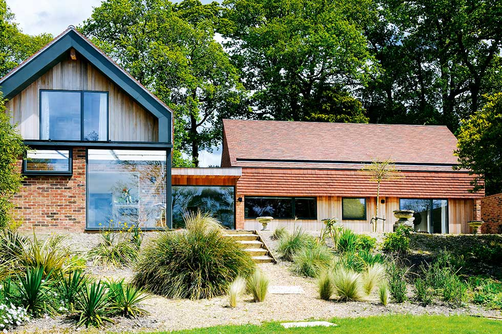 contemporary self build with traditional materials