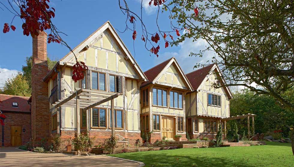 traditional oak frame house exterior self build