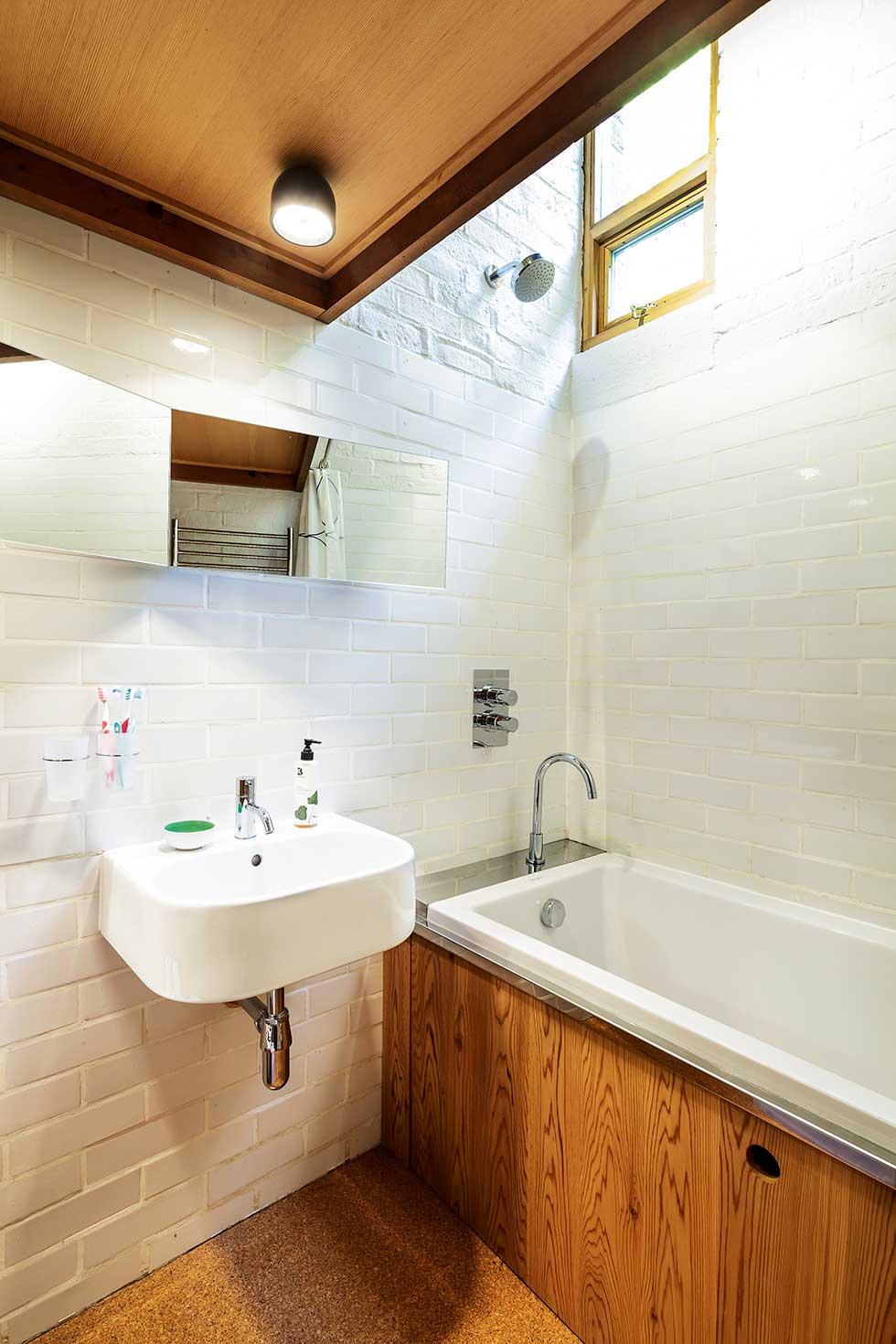 1960s renovation white bathroom