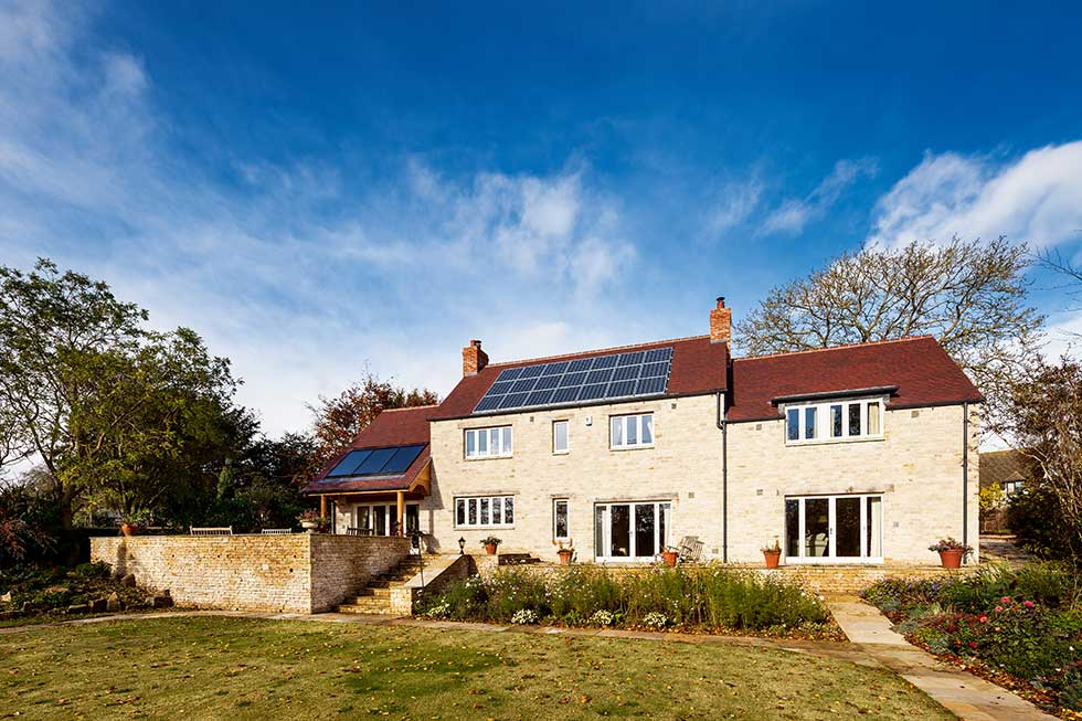 cotswold stone eco home self build