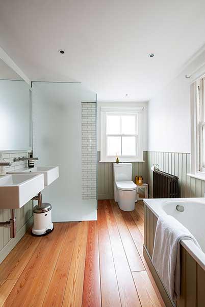 glazed london extension minimal bathroom