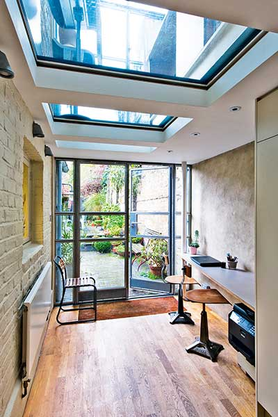glazed london extension french doors
