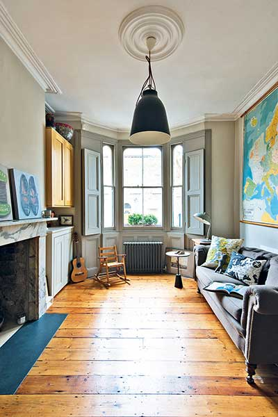 glazed london extension living room