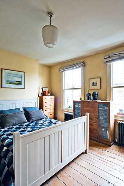 glazed london extension yellow bedroom