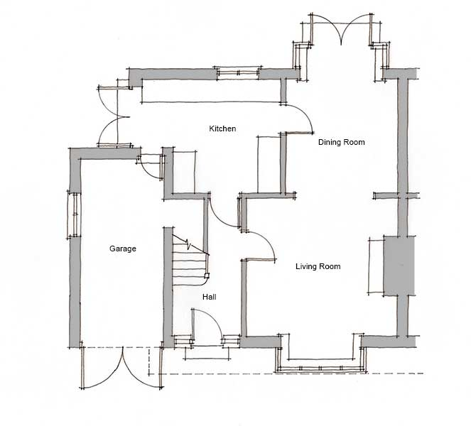How to transform a semi detached home homebuilding for Floor plans for a semi detached house extension