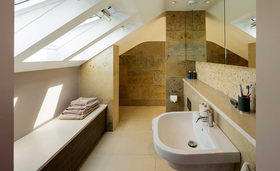 small attic bathroom ideas - How to Transform a Semi Detached Home