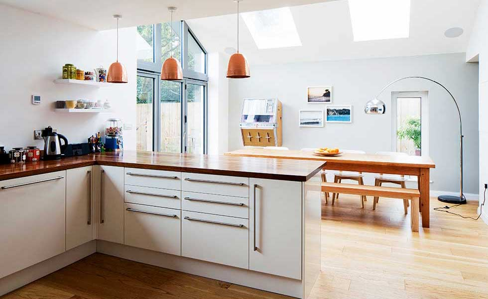 15 of the best open plan kitchens homebuilding renovating for Kitchen ideas long kitchen