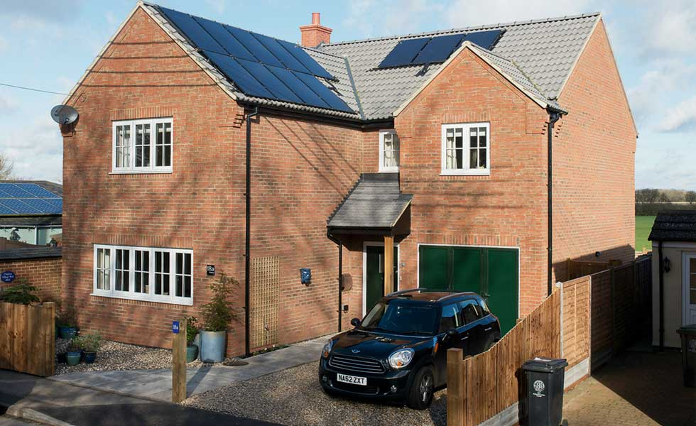 a solar powered house in Northamptonshire