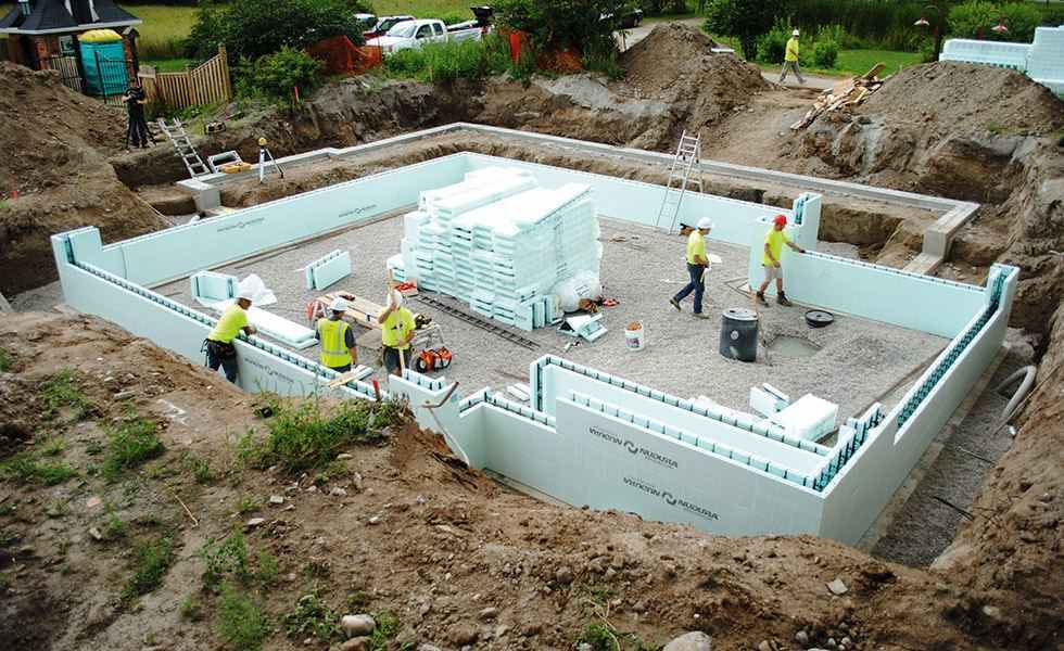 What are the advantages of prefabrication homebuilding for Icf concrete floors