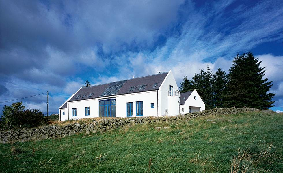 longhouse style passivhaus in Scotland