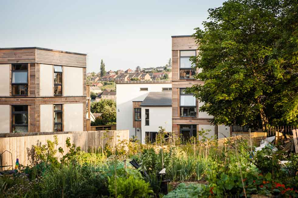 Co housing scheme in Leeds built using a modular straw bale system