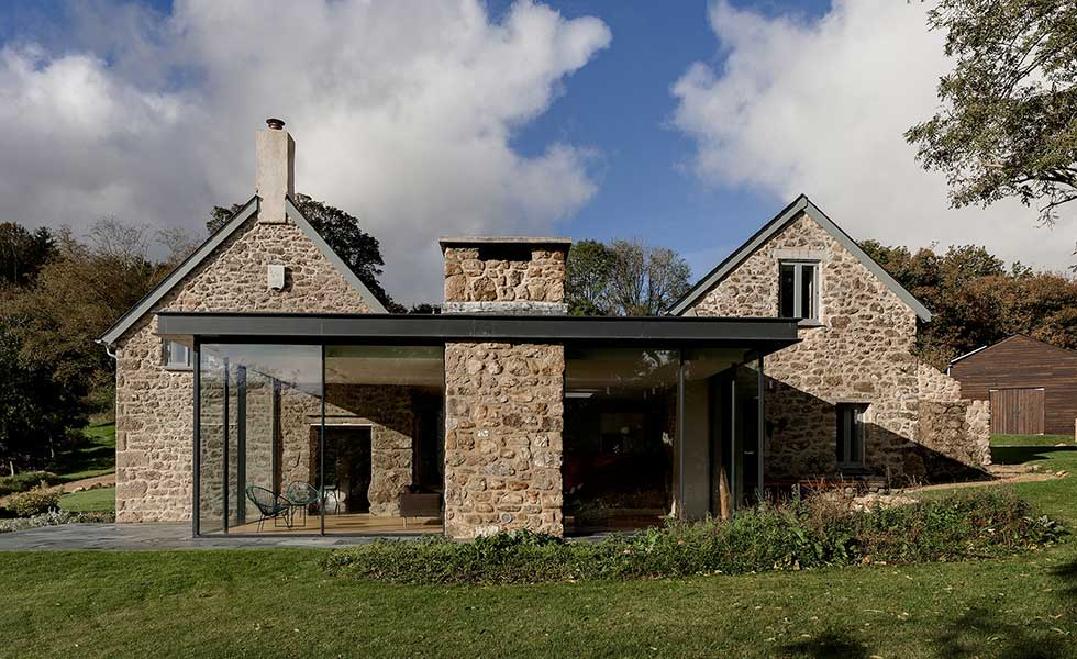 A Glass Extension To A 17th Century Farmhouse