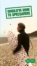 specsavers launches moving poster campaign marketing week