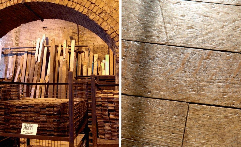 Reclaimed floorboards; Narrow strip oak flooring