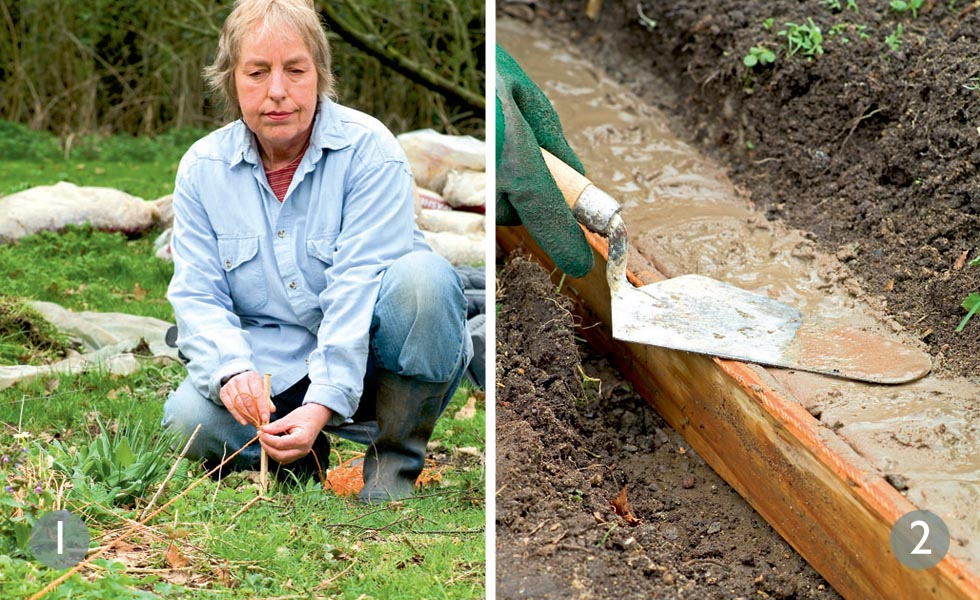 How to lay a gravel path steps 1 and 2
