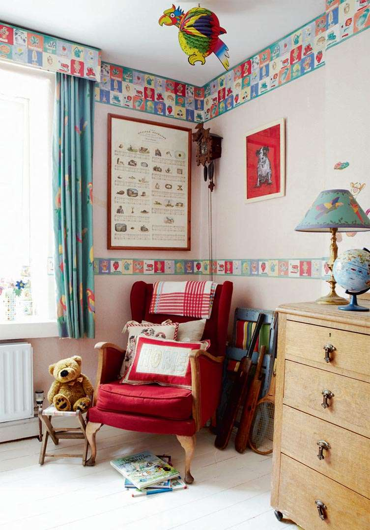 Childrens room with seat