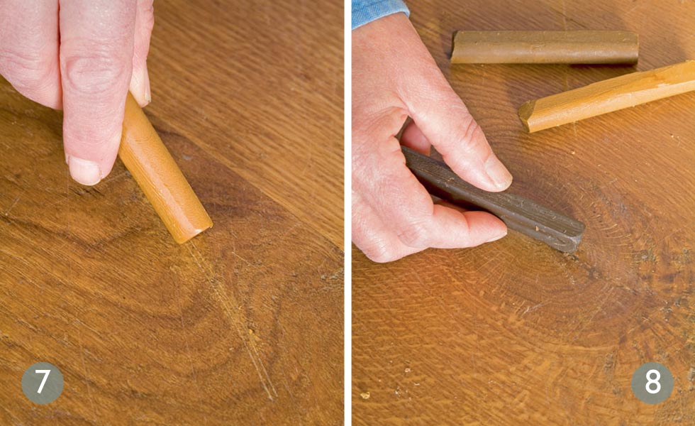 patch repairing a wooden floor - period living