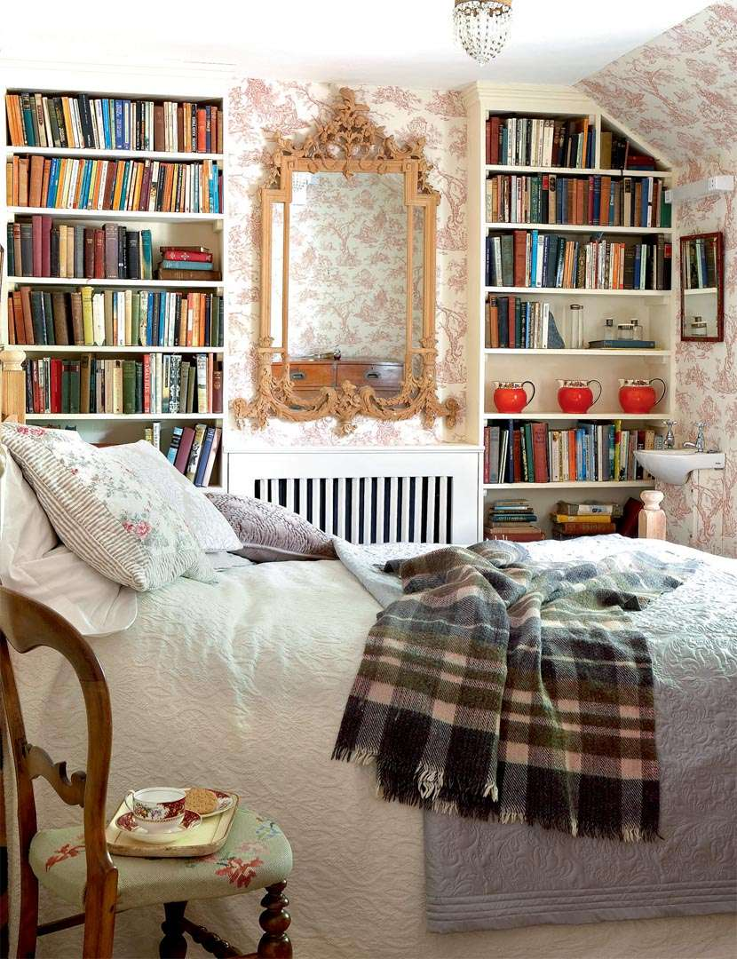 Bedroom with books