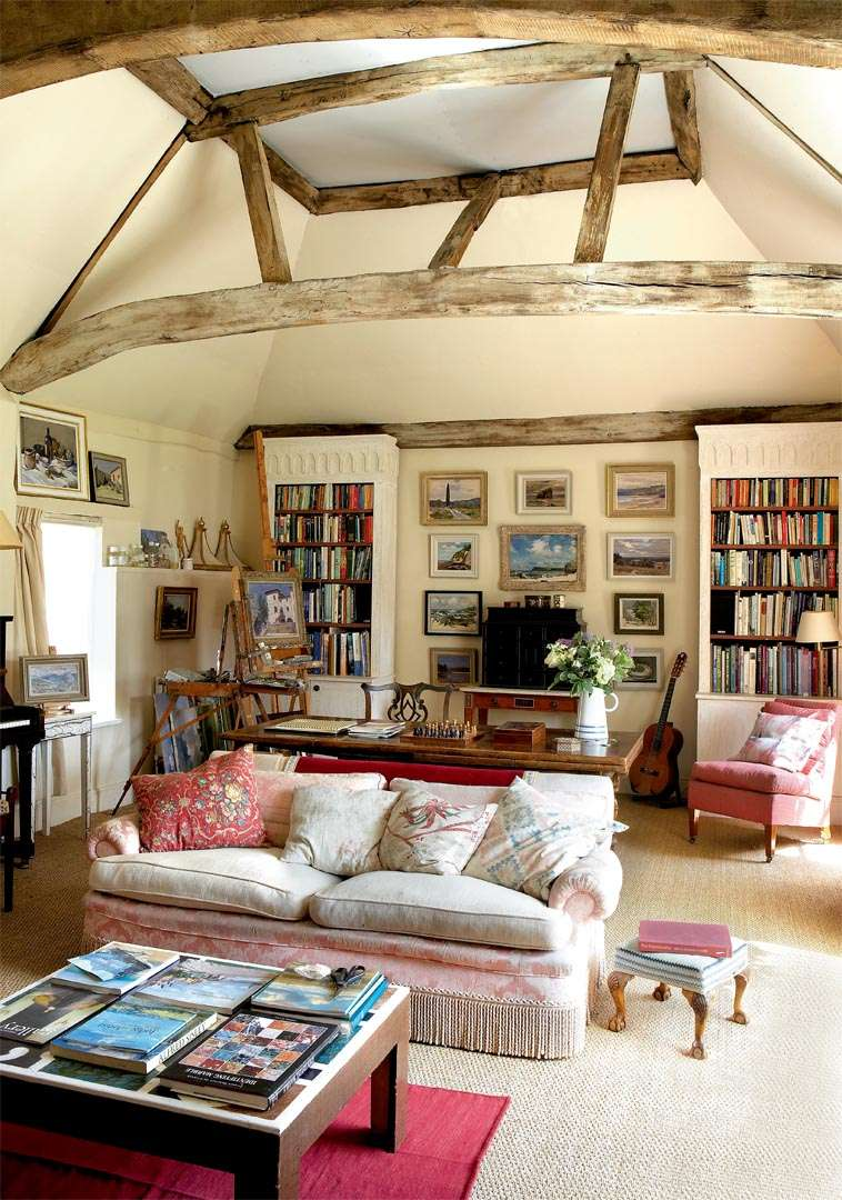 Living room in a converted barn