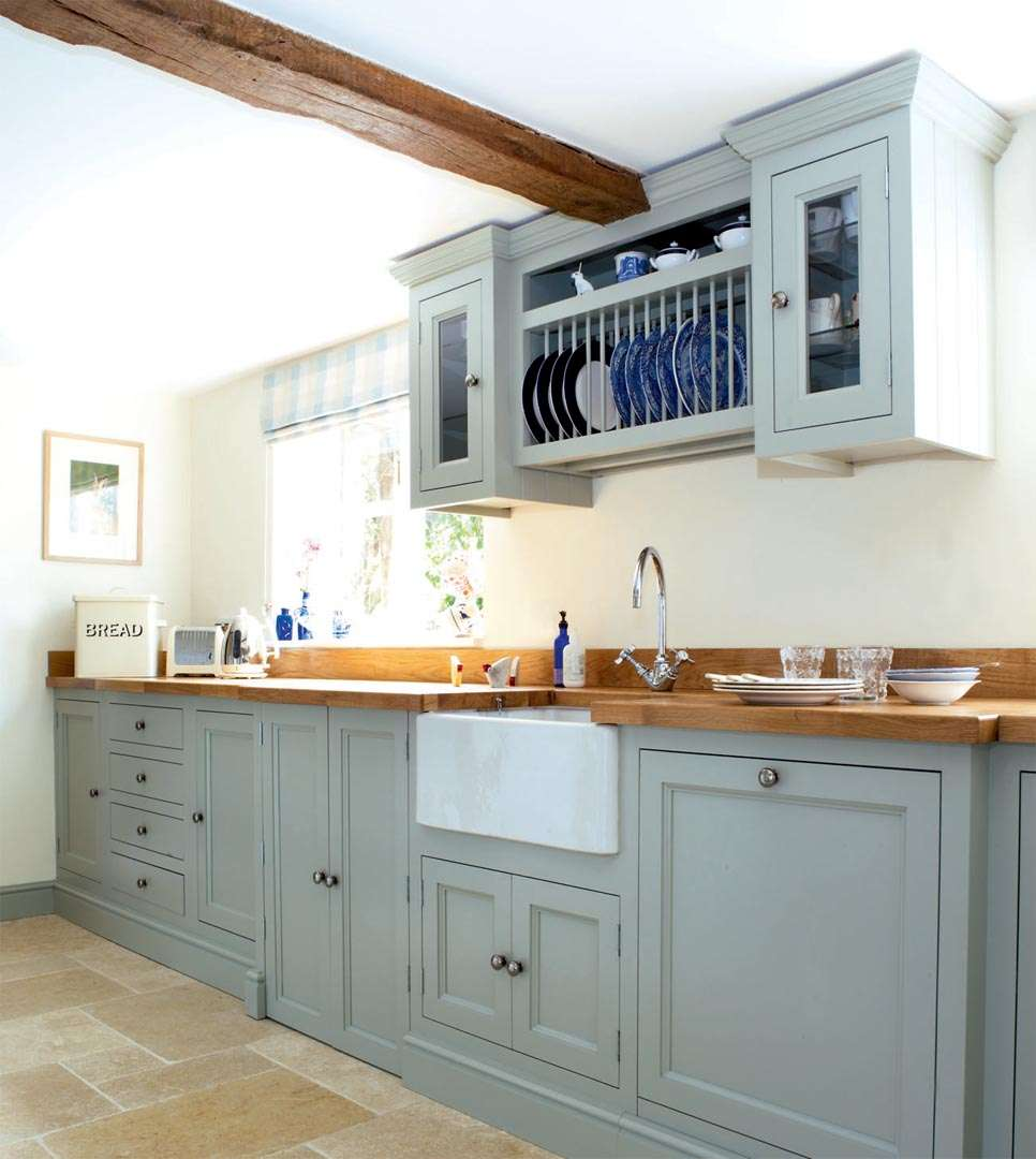 traditional cottage kitchen sink workspace