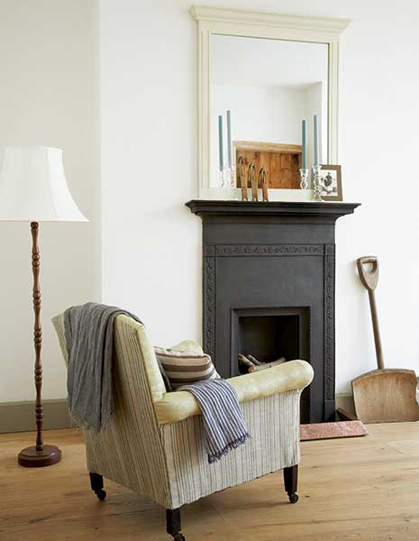 edwardian armchair in a shrimpers cottage lounge