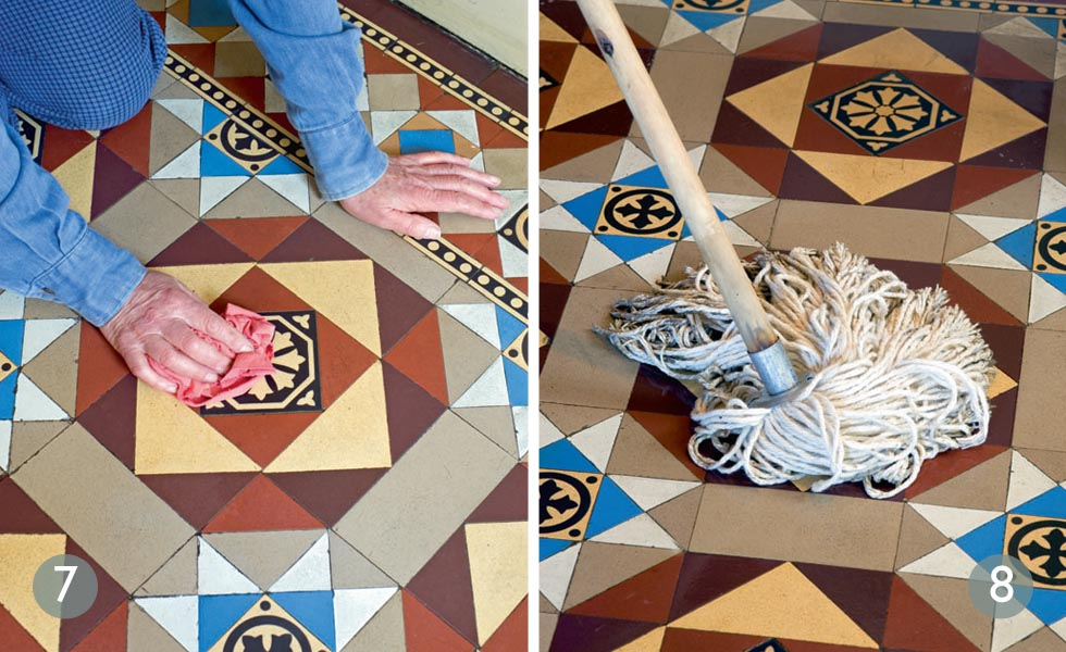 How to repair original tiled floors steps 7 and 8