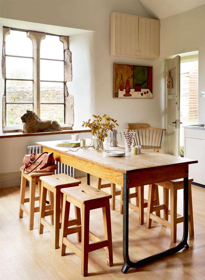 Dining table in school house