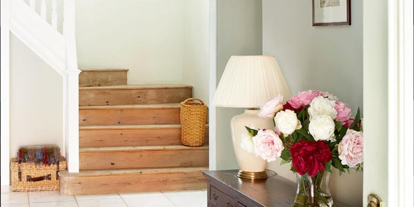 Bare timber staircase