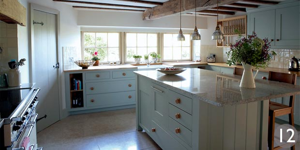Kitchen with additional storage in the central island