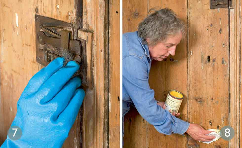 Spruce up door furniture; Nourish the wood