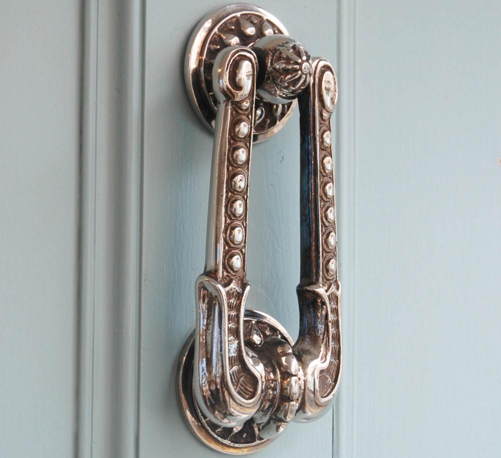 Choosing door knockers for period homes period living - Door knocker nickel ...
