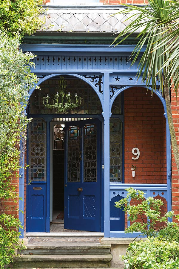 farrow and ball moroccan style blue garden paint porch