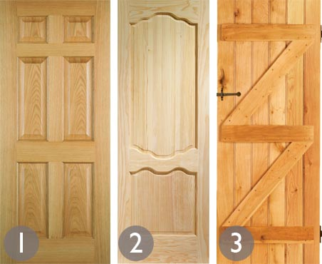 Classic panelled internal door; French style internal door; Ledge and brace internal door & Repairing internal doors - Period Living Pezcame.Com