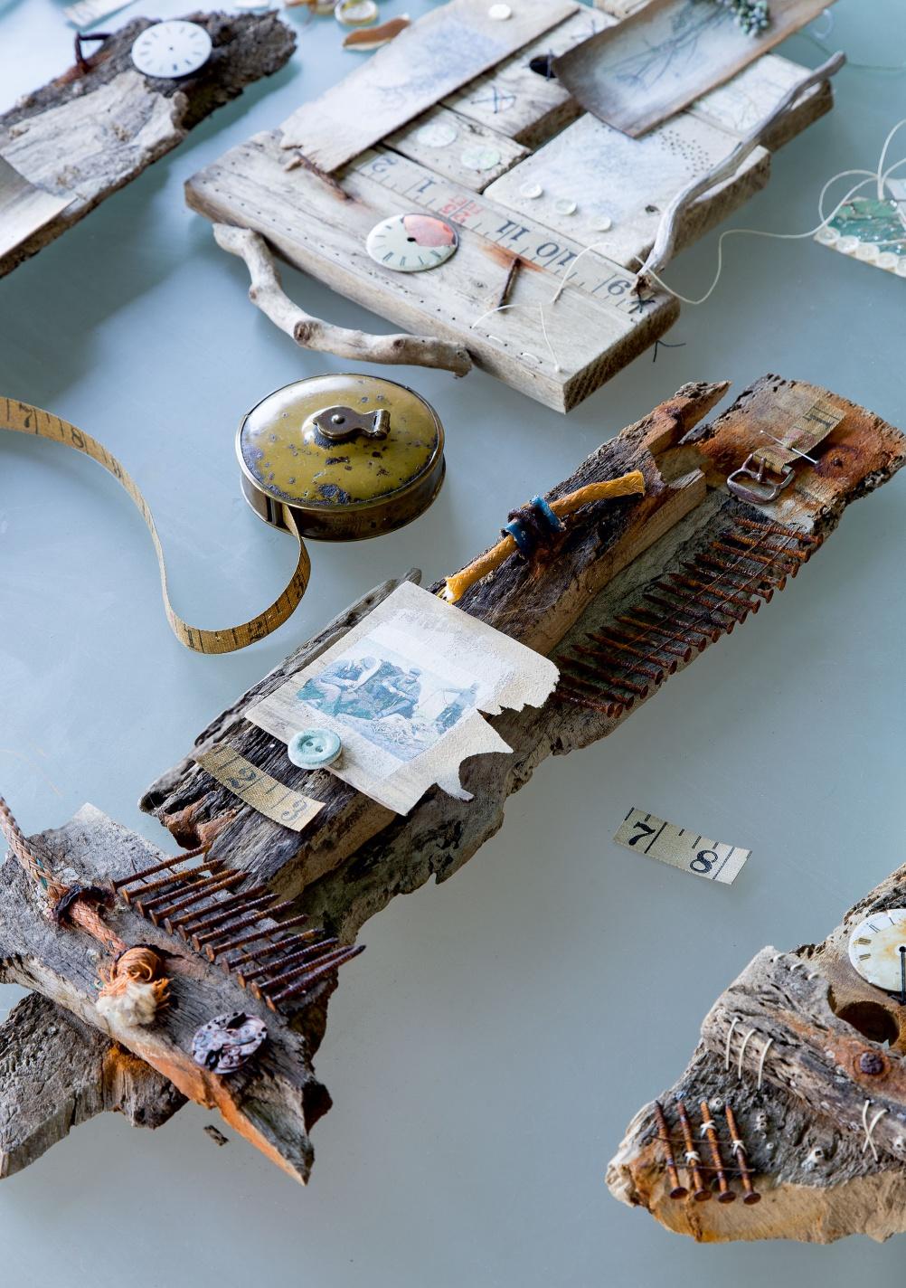 art driftwood reclaimed materials
