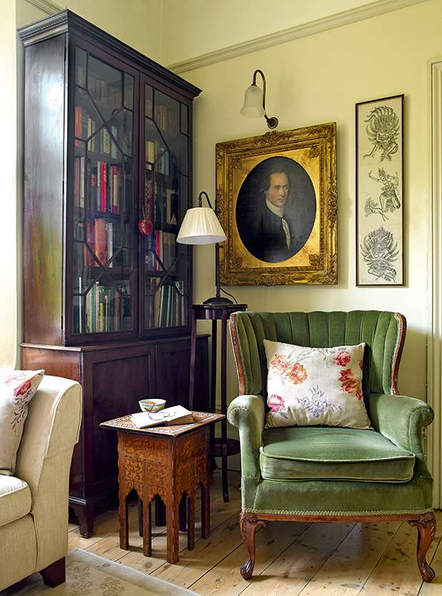 Green Chair In Period Victorian Property