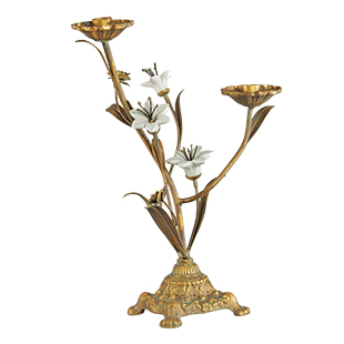 Graham & Green distressed finish candelabrum
