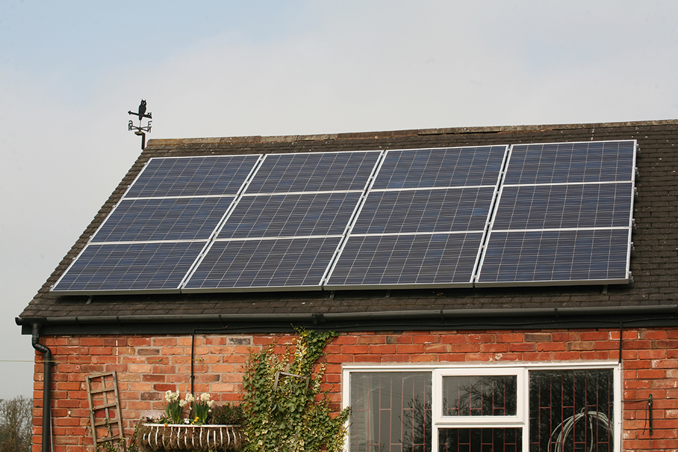 My Four Walls solar panels can draw energy from a renewable source
