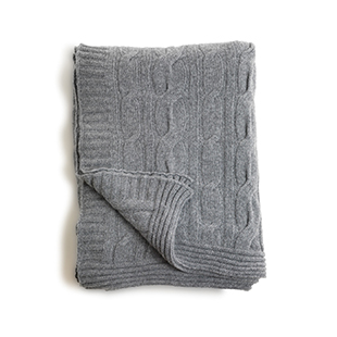 Oscar & Eve's grey lambswool throw