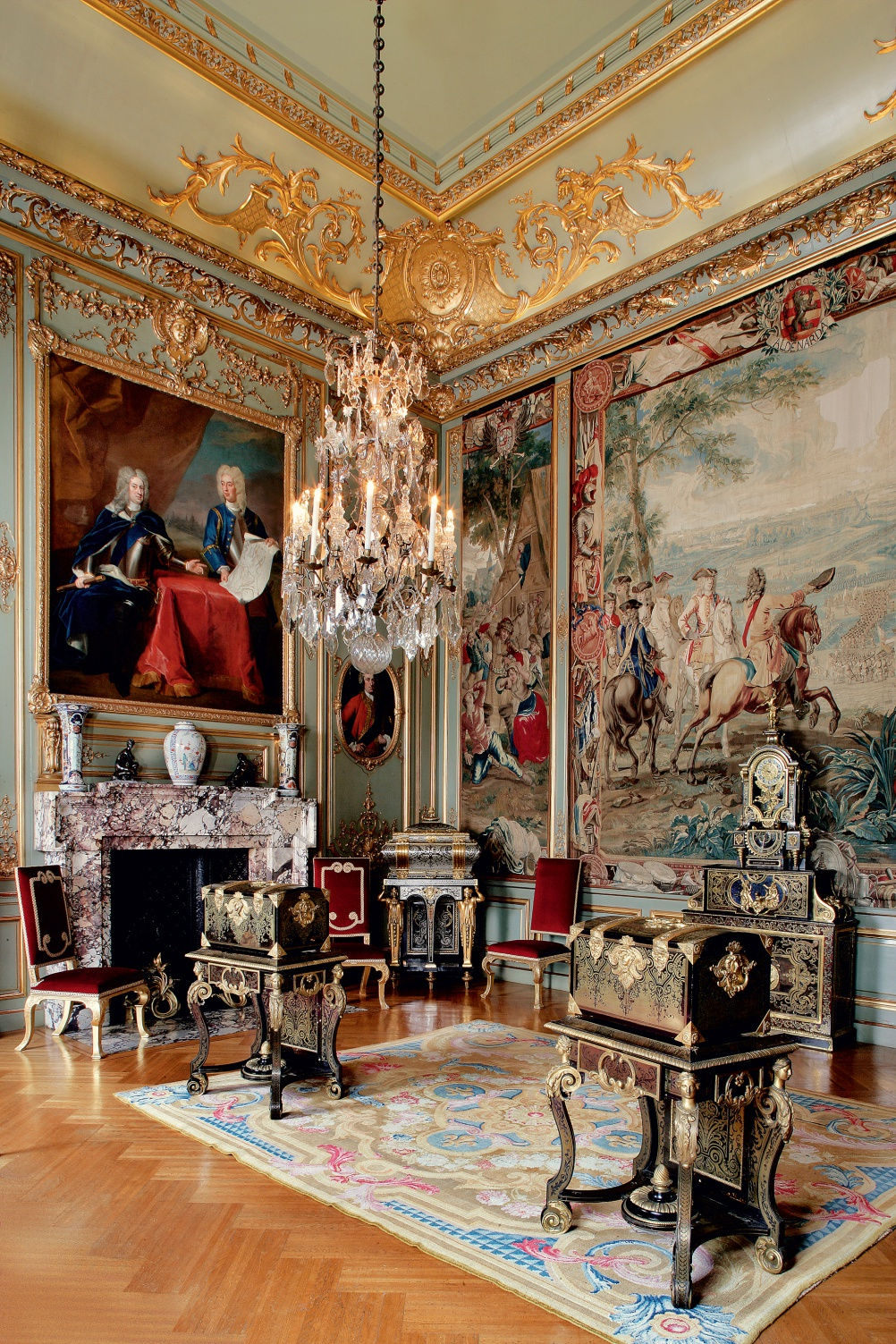 boulle furniture and a savonnerie carpet grace the third state room
