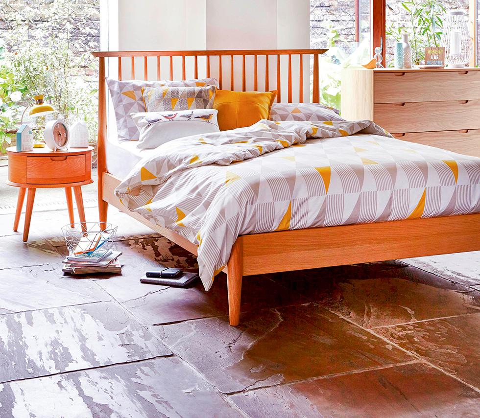 Dunelm-bright-orange-bed