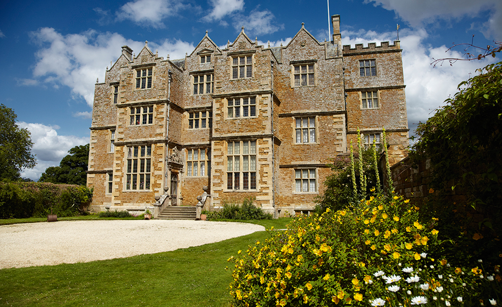 The south front at Chastleton House, Oxfordshire. The Jacobean house was built between 1607 and 1612 for Walter Jones.