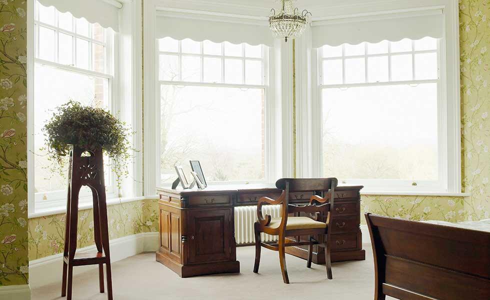 The Sash Window Workshop bay window in bedroom