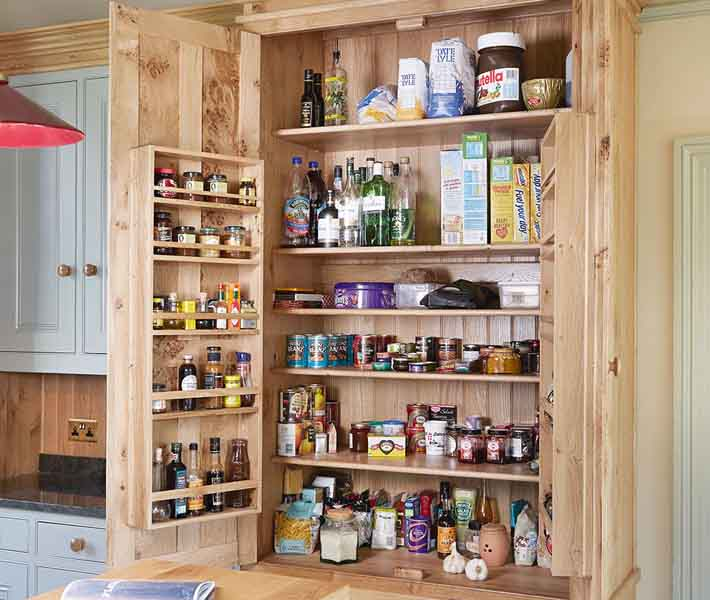 large kitchen cupboard pantry